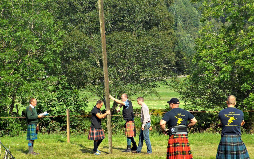 Los juegos de las Tierras Altas (Highland Games) en Glenisla