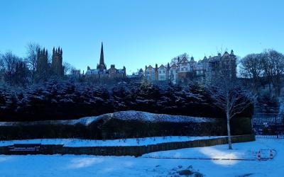 Edimburgo nevado: Princes Street Gardens (galería de fotos)